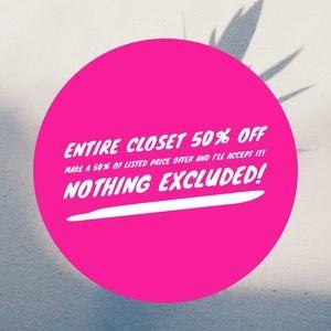 Handbags - 50% OFF ENTIRE CLOSET!!!